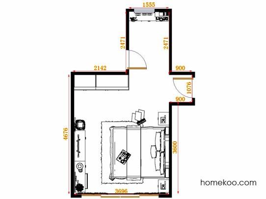 平面布置图贝斯特系列卧房A12925