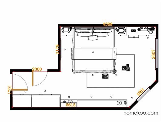 平面布置图格瑞丝系列卧房A12941
