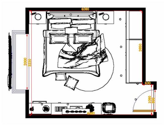 平面布置图柏俪兹系列卧房A12942