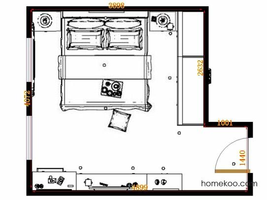 平面布置图格瑞丝系列卧房A12943