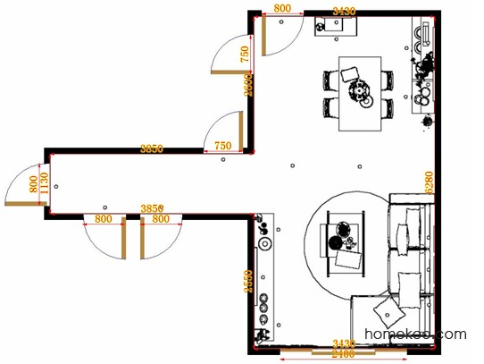 平面布置图斯玛特系列客餐厅G12933