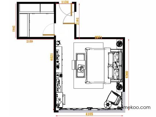 平面布置图德丽卡系列卧房A12972