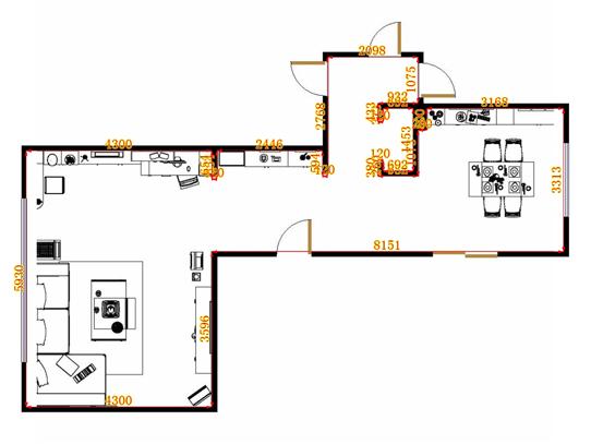 平面布置图柏俪兹系列客餐厅G12956