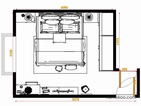 平面布置图柏俪兹系列卧房A12987