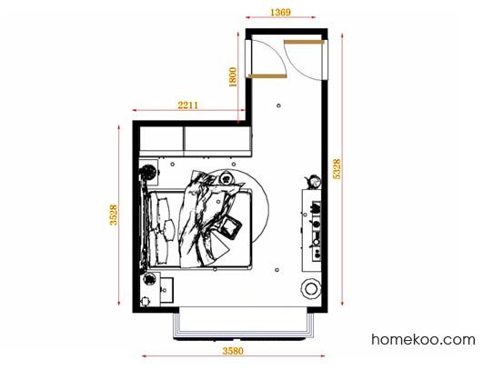 平面布置图德丽卡系列卧房A12994
