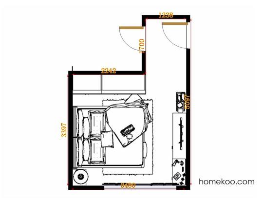 平面布置图贝斯特系列卧房A13009