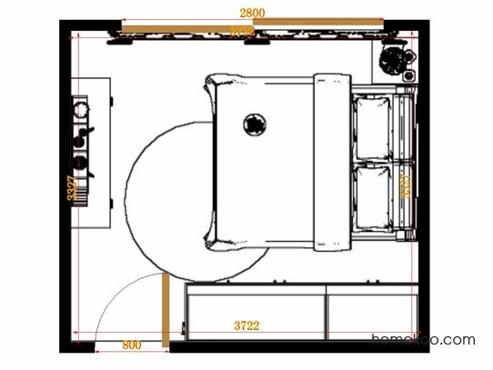 平面布置图乐维斯系列卧房A13029