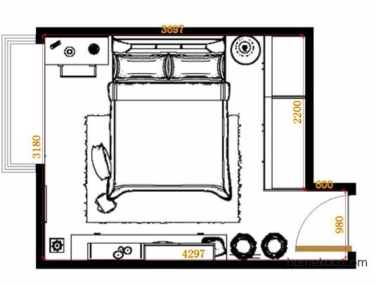平面布置图格瑞丝系列卧房A13034