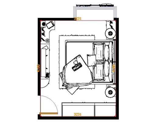 平面布置图柏俪兹系列卧房A13041