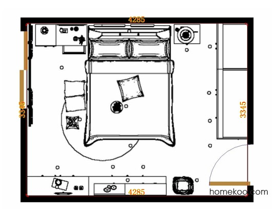 平面布置图斯玛特系列卧房A13053