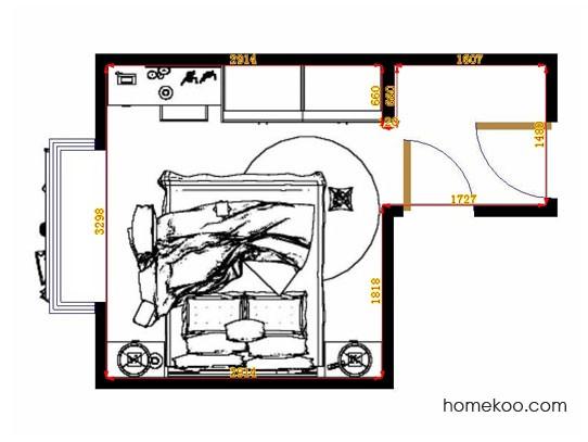 平面布置图贝斯特系列卧房A13068