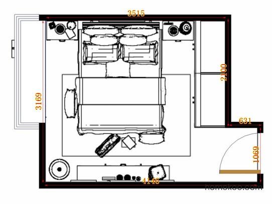 平面布置图贝斯特系列卧房A13069