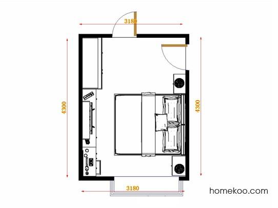 平面布置图斯玛特系列卧房A13074