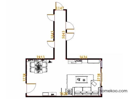 平面布置图斯玛特系列客餐厅G13077