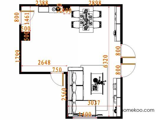 平面布置图格瑞丝系列客餐厅G13081
