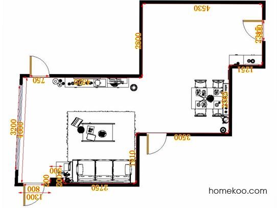 平面布置图乐维斯系列客餐厅G13079