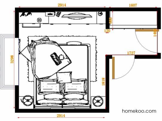 平面布置图贝斯特系列卧房A13089