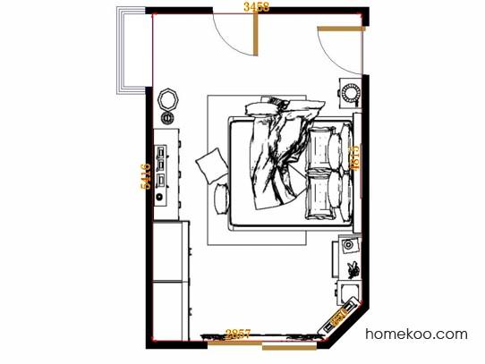 平面布置图乐维斯系列卧房A13091