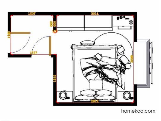平面布置图格瑞丝系列卧房A13094