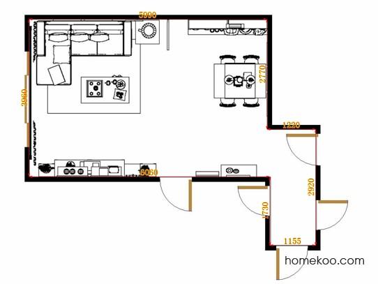 平面布置图格瑞丝系列客餐厅G13095