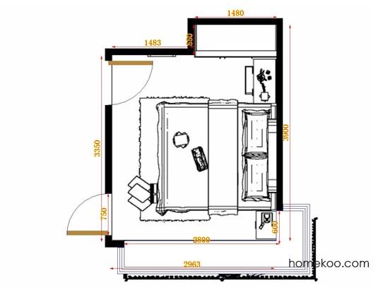 平面布置图乐维斯系列卧房A13098