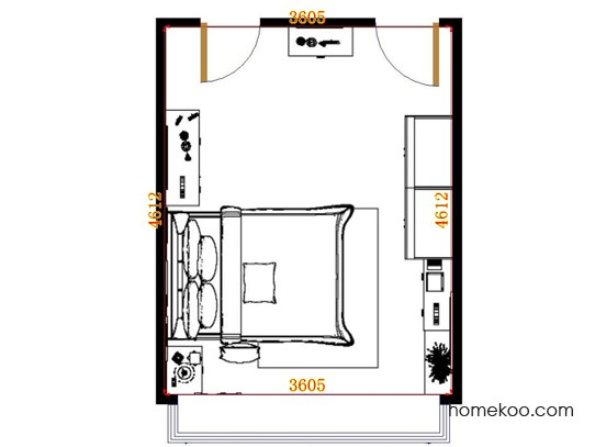 平面布置图格瑞丝系列卧房A13101