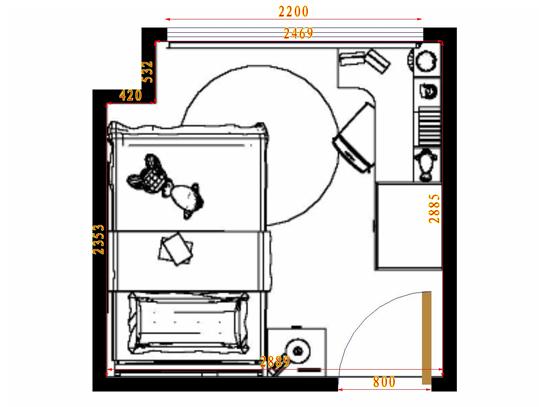 平面布置图德丽卡系列青少年房B11465