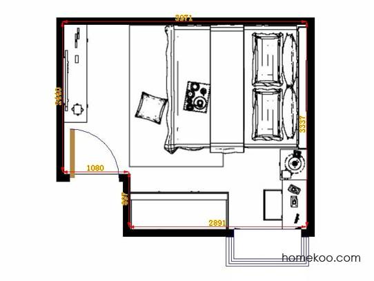 平面布置图德丽卡系列卧房A13132