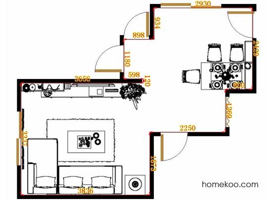平面布置图乐维斯系列客餐厅G13161