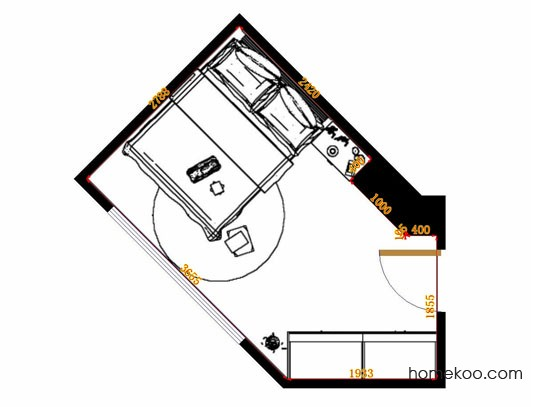 平面布置图德丽卡系列卧房A13156