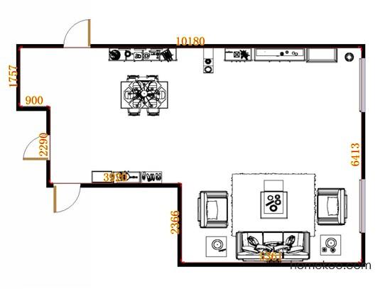 平面布置图贝斯特系列客餐厅G13182