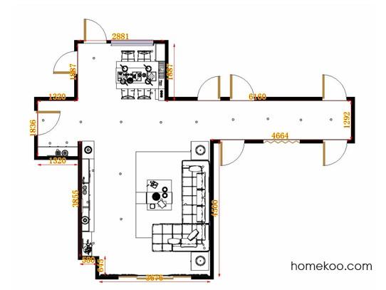 平面布置图贝斯特系列客餐厅G13183