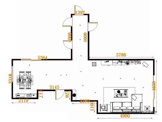 平面布置图斯玛特系列客餐厅G13187