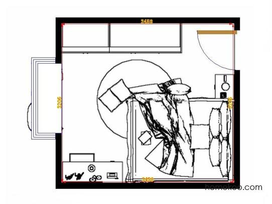 平面布置图柏俪兹系列卧房A13169