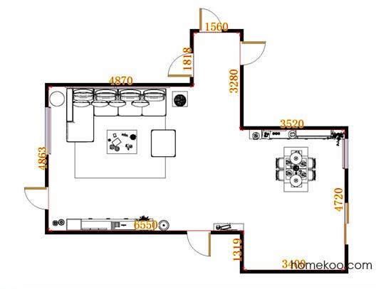 平面布置图格瑞丝系列客餐厅G13193