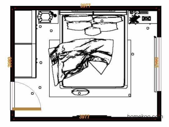 平面布置图斯玛特系列卧房A13170