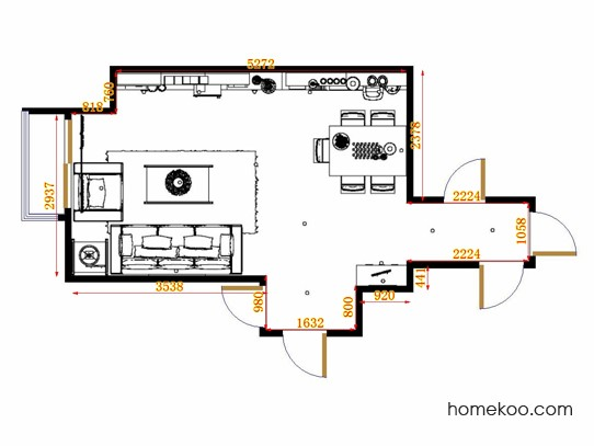 平面布置图乐维斯系列客餐厅G13197
