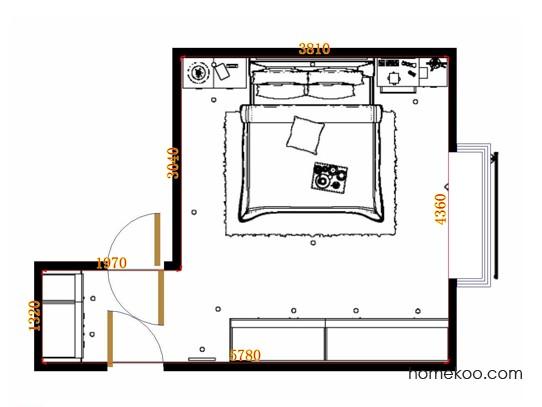 平面布置图贝斯特系列卧房A13193