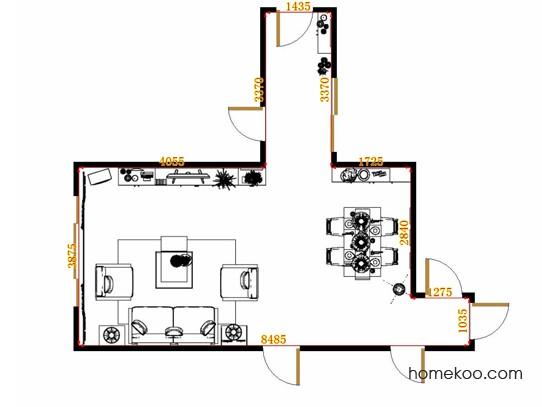 平面布置图德丽卡系列客餐厅G13223