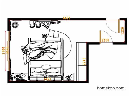 平面布置图格瑞丝系列卧房A13210