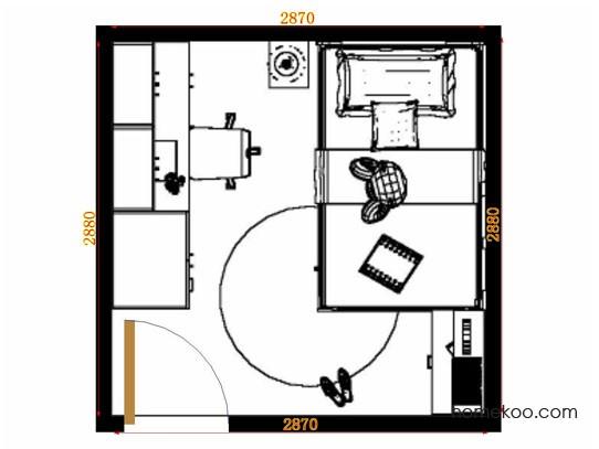 平面布置图贝斯特系列青少年房B11503