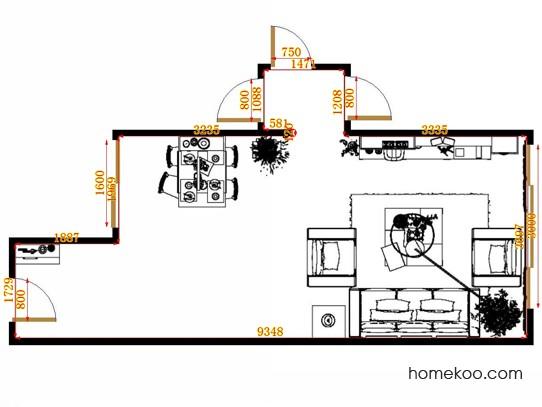 平面布置图斯玛特系列客餐厅G13234