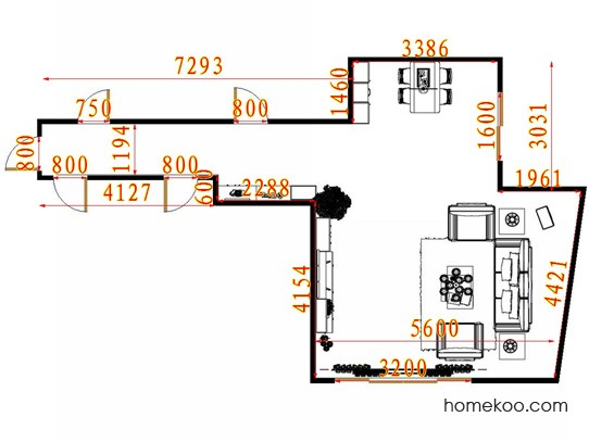 平面布置图贝斯特系列客餐厅G13254