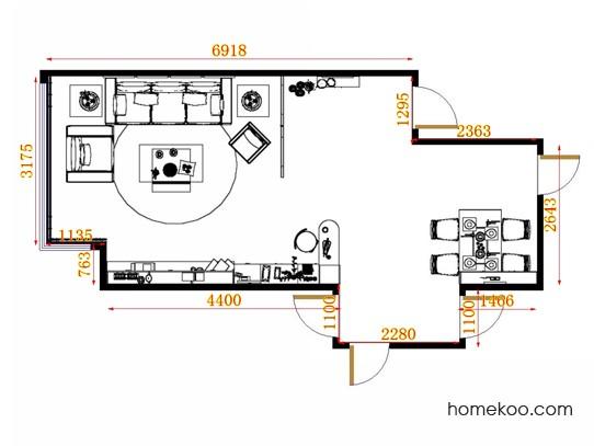 平面布置图柏俪兹系列客餐厅G13285