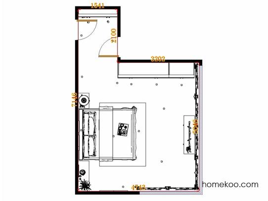 平面布置图德丽卡系列卧房A13272
