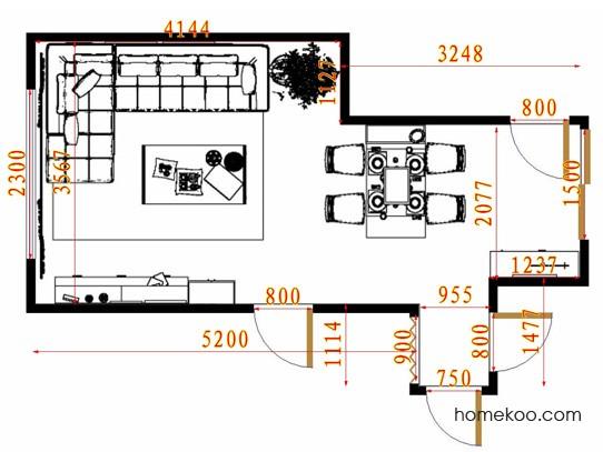 平面布置图德丽卡系列客餐厅G13350