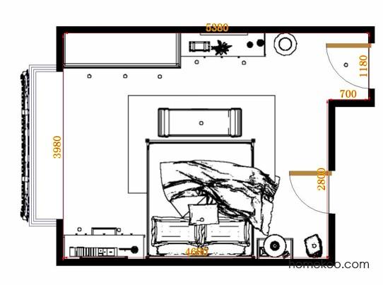 平面布置图贝斯特系列卧房A13326