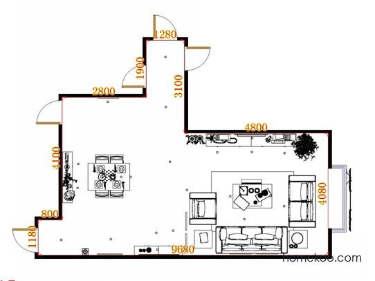 平面布置图乐维斯系列客餐厅G13382