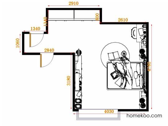 平面布置图乐维斯系列卧房A13341