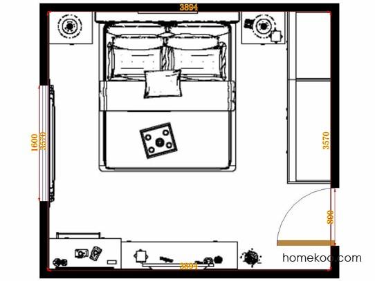 平面布置图柏俪兹系列卧房A13348